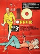 La decima vittima - Danish Movie Poster (xs thumbnail)