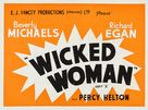 Wicked Woman - British Movie Poster (xs thumbnail)
