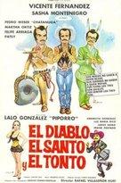 El diablo, el santo y el tonto - Mexican Movie Poster (xs thumbnail)