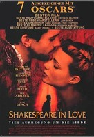 Shakespeare In Love - German Movie Poster (xs thumbnail)