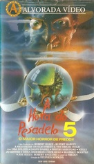 A Nightmare on Elm Street: The Dream Child - Brazilian VHS movie cover (xs thumbnail)