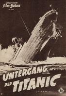 Titanic - German poster (xs thumbnail)