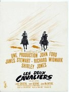 Two Rode Together - French Movie Poster (xs thumbnail)