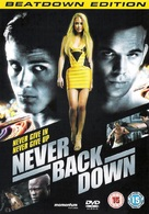 Never Back Down - British Movie Cover (xs thumbnail)