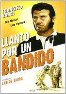 Llanto por un bandido - Spanish DVD cover (xs thumbnail)