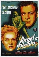 Fallen Angel - Spanish Movie Poster (xs thumbnail)