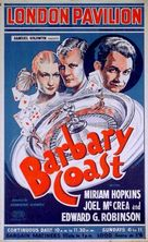 Barbary Coast - British Movie Poster (xs thumbnail)