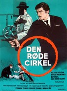Le cercle rouge - Danish Movie Poster (xs thumbnail)
