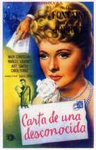 Letter from an Unknown Woman - Spanish Movie Poster (xs thumbnail)
