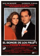 Prizzi's Honor - Spanish Movie Poster (xs thumbnail)