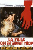La ragazza che sapeva troppo - Belgian Movie Poster (xs thumbnail)