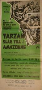 Tarzan and the Great River - Swedish Movie Poster (xs thumbnail)