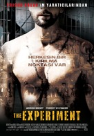 The Experiment - Turkish Movie Poster (xs thumbnail)