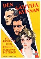 Die Frau, nach der man sich sehnt - Swedish Movie Poster (xs thumbnail)