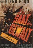 Blackboard Jungle - German Movie Poster (xs thumbnail)