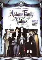 Addams Family Values - Brazilian DVD movie cover (xs thumbnail)