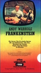 Flesh for Frankenstein - German VHS cover (xs thumbnail)