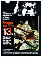 Friday the 13th - Danish Movie Poster (xs thumbnail)