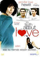 The Truth About Love - German DVD cover (xs thumbnail)