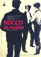 Rocco e i suoi fratelli - Hungarian Movie Poster (xs thumbnail)