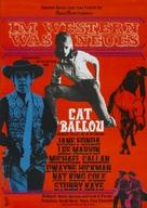 Cat Ballou - German Movie Poster (xs thumbnail)