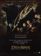 The Lord of the Rings: The Fellowship of the Ring - For your consideration poster (xs thumbnail)