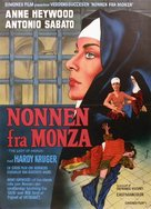 La monaca di Monza - Danish Movie Poster (xs thumbnail)