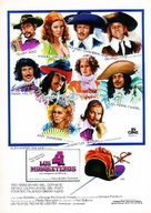 The Four Musketeers - Spanish Movie Poster (xs thumbnail)