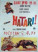 Hatari! - Yugoslav Movie Poster (xs thumbnail)