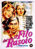 The Razor's Edge - Italian Movie Poster (xs thumbnail)