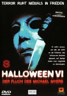 Halloween: The Curse of Michael Myers - German DVD movie cover (xs thumbnail)