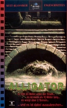 Alligator - German VHS movie cover (xs thumbnail)