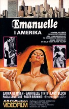 Emanuelle In America - Danish VHS movie cover (xs thumbnail)