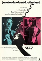 Klute - German Movie Poster (xs thumbnail)