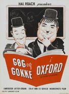 A Chump at Oxford - Danish Movie Poster (xs thumbnail)