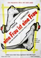 Une femme est une femme - German Movie Poster (xs thumbnail)
