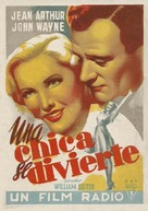 A Lady Takes a Chance - Spanish Movie Poster (xs thumbnail)