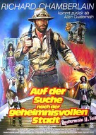 Allan Quatermain and the Lost City of Gold - German Movie Poster (xs thumbnail)