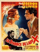 The Divorce of Lady X - Belgian Movie Poster (xs thumbnail)