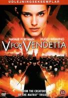V for Vendetta - Danish DVD movie cover (xs thumbnail)