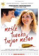 L'amour dure trois ans - Lithuanian Movie Poster (xs thumbnail)