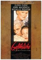 Dangerous Liaisons - German Movie Poster (xs thumbnail)