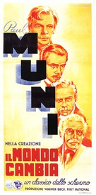 The World Changes - Italian Movie Poster (xs thumbnail)