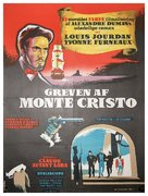 Le comte de Monte Cristo - Danish Movie Poster (xs thumbnail)