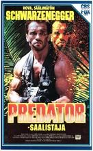 Predator - Finnish VHS movie cover (xs thumbnail)