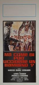 ¿Quièn puede matar a un niño? - Italian Movie Poster (xs thumbnail)