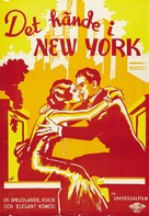 It Happened in New York - Swedish Movie Poster (xs thumbnail)