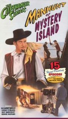 Manhunt of Mystery Island - VHS cover (xs thumbnail)