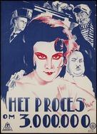 Protsess o tryokh millionakh - Dutch Movie Poster (xs thumbnail)