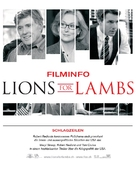 Lions for Lambs - German Movie Poster (xs thumbnail)